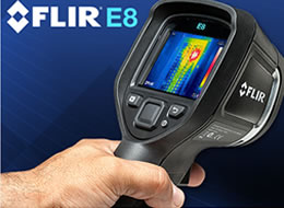 Termovisores FLIR E8 com MSX® 1