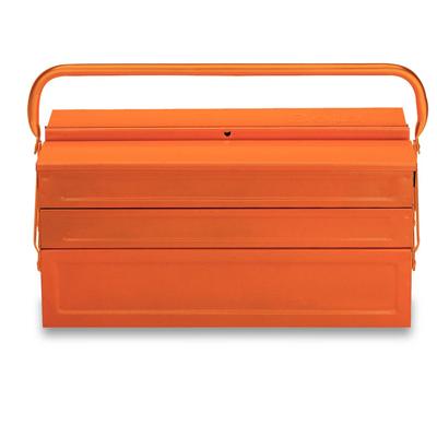 C20 - Caixa metálica sanfonada com alça e 5 divisórias  1